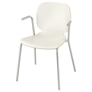 СВЕН-БЕРТИЛЬ Легкое кресло, белый, Дитмар хромированный