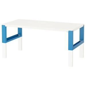 ПОЛЬ Письменный стол, белый, синий