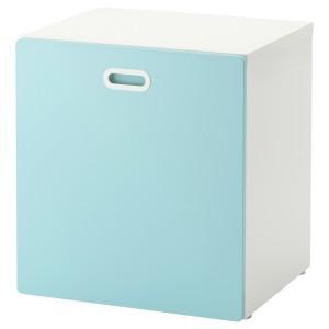 СТУВА / ФРИТИДС Модуль для игрушек, на колесиках, белый, голубой