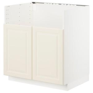 МЕТОД Шкаф для двойной мойки БРЕДШЁН, белый, Будбин белый с оттенком