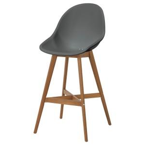 ФАНБЮН Барный стул для дома/сада, серый