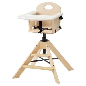 ГРОВАЛЬ Детский/высокий стул+столешницей, береза