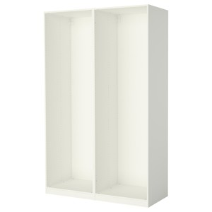ПАКС 2 каркаса гардеробов, белый