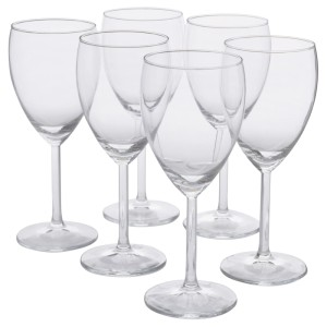 СВАЛЬК Бокал для белого вина, прозрачное стекло, 6шт