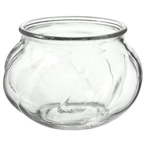 ВИЛЬЕСТАРК Ваза, прозрачное стекло