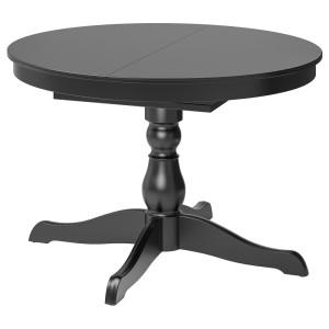 ИНГАТОРП Раздвижной стол, черный