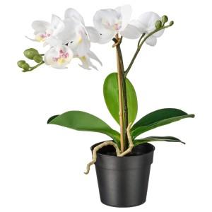 ФЕЙКА Искусственное растение в горшке, Орхидея белый