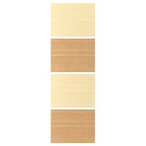 ФЬЕЛЬХАМАР 4 панели д/рамы раздвижной дверцы, бамбук, двусторонний
