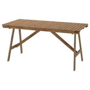 ФАЛЬХОЛЬМЕН Садовый стол, светло-коричневая морилка серо-коричневый