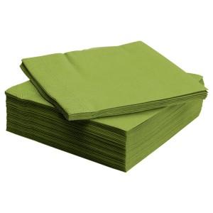 ФАНТАСТИСК Салфетка бумажная, классический зеленый, 50шт