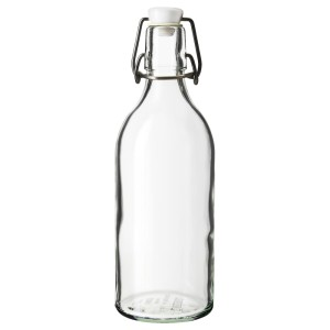 КОРКЕН Бутылка с пробкой, прозрачное стекло