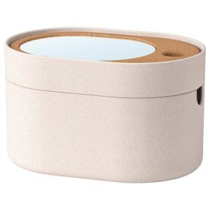 САКСБОРГА Коробка с зеркальной крышкой, пластик пробка