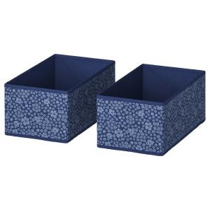 СТОРСТАББЕ Коробка, синий, белый, 2шт