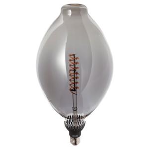 РОЛЛЬСБУ Светодиод E27 140 лм, регулируемая яркость форма воздушного шара, серое стекло