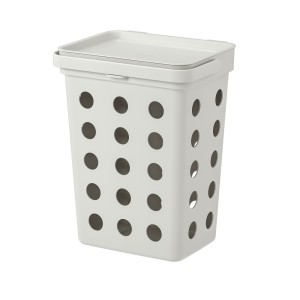ХОЛЛБАР Контейнер д/органич отходов+крышка, светло-серый