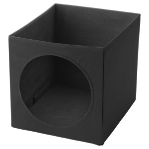 ЛУРВИГ Домик для кошки, черный
