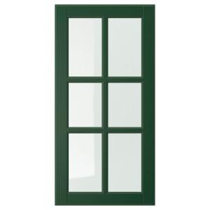 БУДБИН Стеклянная дверь, темно-зеленый
