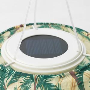 СОЛВИДЕН Подвесная светодиодная лампа, для сада, овал орнамент «пальма»