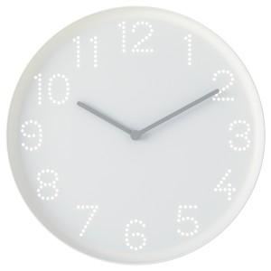 ТРОММА Настенные часы, белый