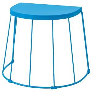 ТРАНАРЁ Табурет/приставной стол,д/дома/сада, синий
