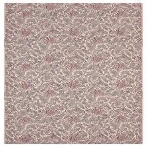 ХАКВИНГЕ Ткань, неокрашенный темно-красный, орнамент «листья»