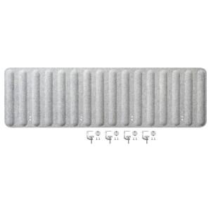 ЭЙЛИФ Экран д/письменного стола, серый, 1.6м