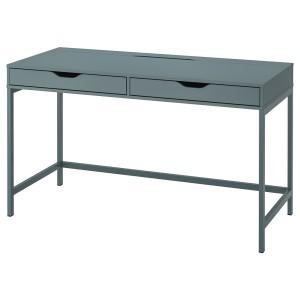 АЛЕКС Письменный стол, серо-бирюзовый