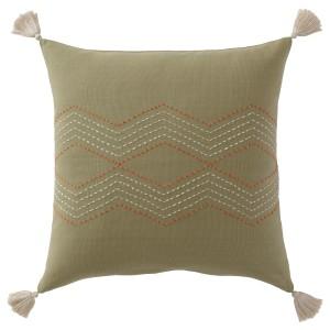ХАЛЛВИ Чехол на подушку, ручная работа зеленый, 1шт