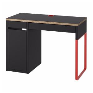 МИККЕ Письменный стол, антрацит, красный