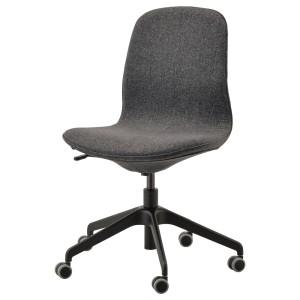 ЛОНГФЬЕЛЛЬ Рабочий стул, Гуннаред темно-серый, черный