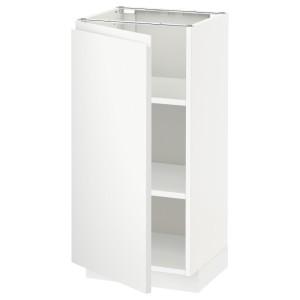 МЕТОД Напольный шкаф с полками, белый, Воксторп матовый белый белый