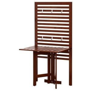 ЭПЛАРО Настенная панель+садовый стол, коричневая морилка