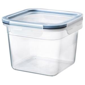 ИКЕА/365+ Контейнер для продуктов с крышкой, четырехугольной формы, пластик