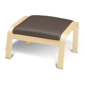 ПОЭНГ Табурет для ног, березовый шпон, Глосе темно-коричневый