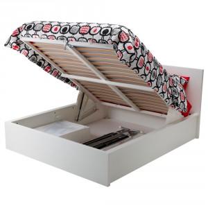 МАЛЬМ Кровать с подъемным механизмом