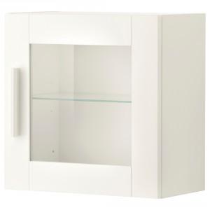 БРИМНЭС Навесной шкаф со стеклянной дверью
