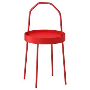 БУРВИК Придиванный столик, красный