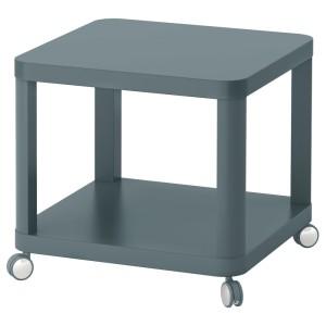 ТИНГБИ Стол приставной на колесиках, бирюзовый