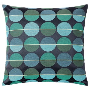ОТТИЛЬ Чехол на подушку, синий/зеленый