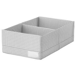 СТУК Ящик с отделениями, белый/серый