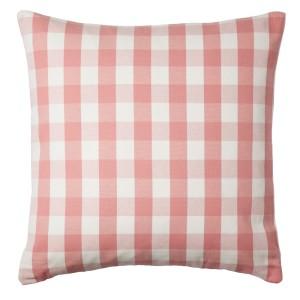 СМОНАТЕ Чехол на подушку, белый, розовый