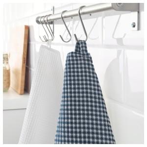 ТРОЛЛЬПИЛ Полотенце кухонное, белый, синий, 2шт