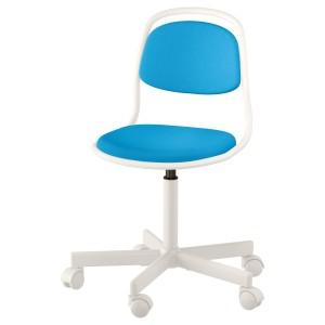 ОРФЬЕЛЛЬ Детский стул д/письменного стола, белый, Висле ярко-синий