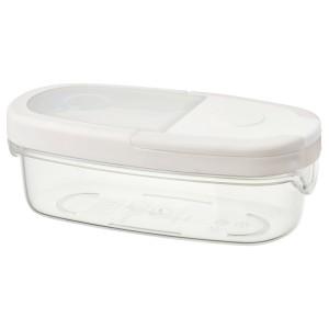 ИКЕА/365+ Контейнер+крышка д/сухих продуктов, прозрачный, белый