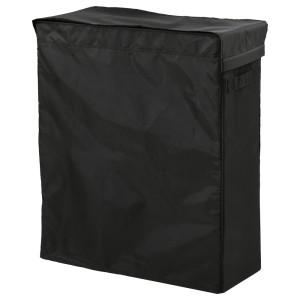 СКУББ Корзина для белья на опоре, черный