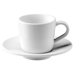 ИКЕА/365+ Чашка для кофе эспрессо с блюдцем, белый