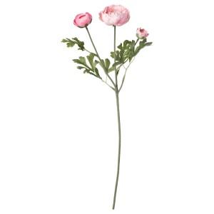 СМИККА Цветок искусственный, лютик, розовый