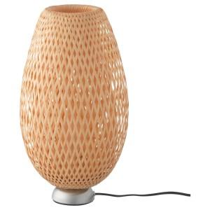 БОЙА Лампа настольная, никелированный бамбук, ручная работа бамбук