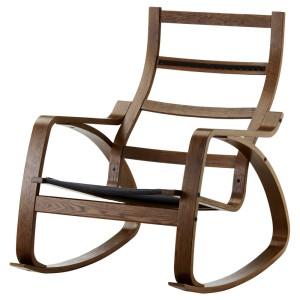 ПОЭНГ Каркас кресла-качалки, коричневый