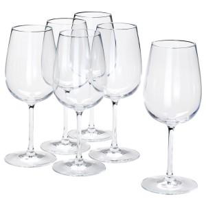 СТОРСИНТ Бокал для вина, прозрачное стекло, 6шт